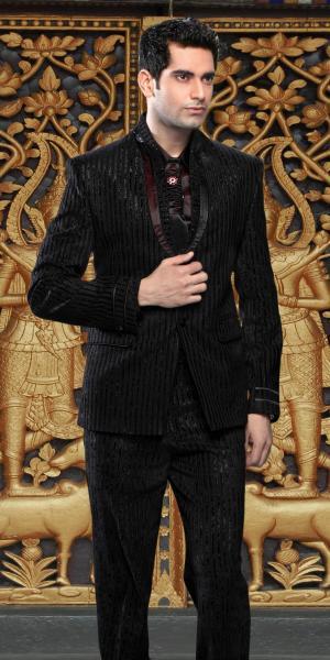 9d6769ea7179f Мужские костюмы, чёрный вечерний мужской костюм-двойка + рубашка + ...
