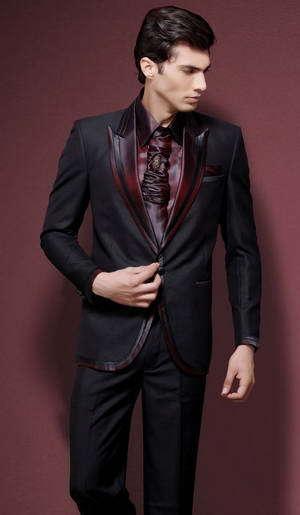 64830cb24d3b5 Купить костюм мужской на свадьбу, чёрный мужской костюм-двойка + ...