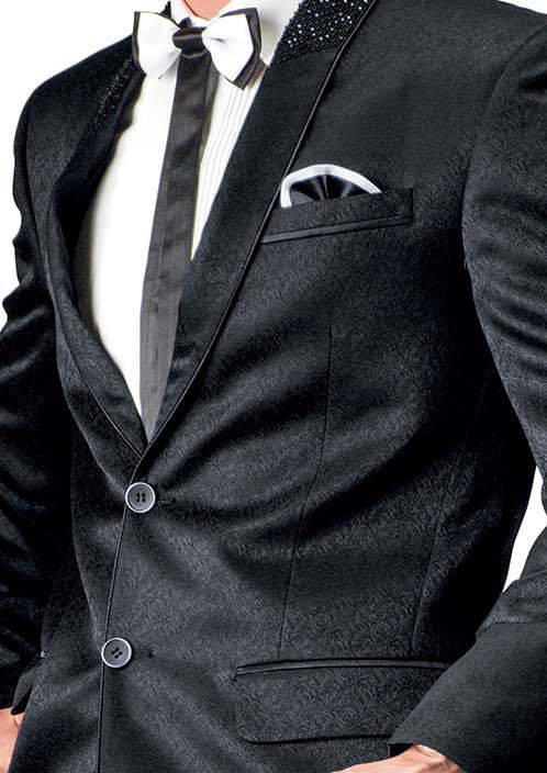schwarz herren anzug zwei wei es hemd krawatte schmetterling. Black Bedroom Furniture Sets. Home Design Ideas