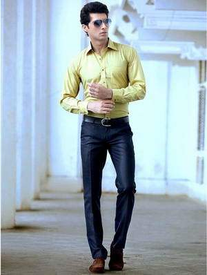 Pants blue shirt yellow with How to
