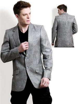 authentic quality attractive price discount up to 60% Cheap men's two piece suit: grey jacket + black pants