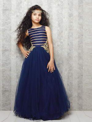 Vestidos de color azul para ninas