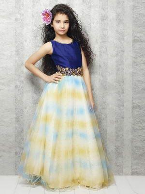 Largo Y Elegante Vestido En El Suelo Sin Mangas Para Niñas De 2 A 12 Años