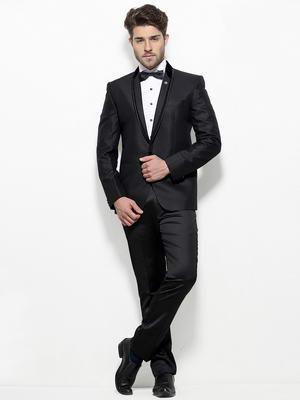Noir de mariage costume homme-diable + chemise blanche avec un noeud  papillon de2ba52bf10