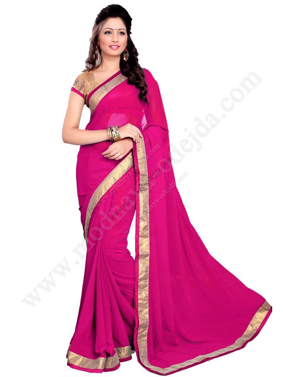 La rosa de fácil indio sari de gasa