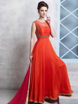 0f7ee3eda17c Tiziano vörös, hosszú ruha, ujjatlan, díszített sodrott selyem hímzés  lurex, gyöngyökkel, flitterekkel