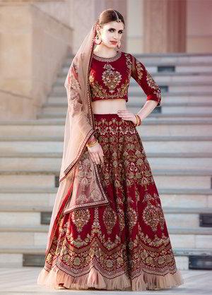 Vestiti Da Sposa Indiani.Indiano Femmina Da Sposa Vestito Indiano Lang Choli