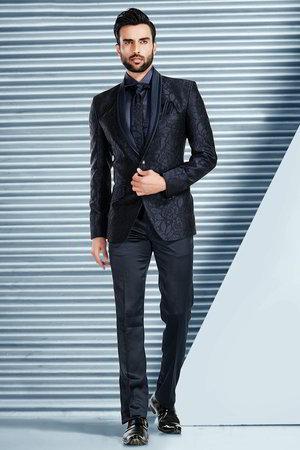 Avec DiableChemise Costume Cravate Nuit Homme Bleu Une 0NOknwP8X