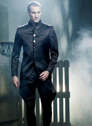 Дорогой мужской костюм, коричневый мужской дорогой костюм-тройка (с...