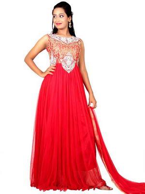 Изобр по > Красное Вечернее Платье в Пол